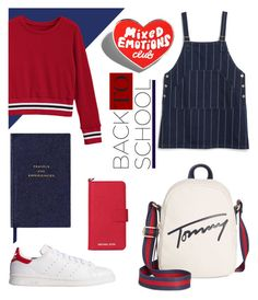 """Back to school no.2"" by sadie-a ❤ liked on Polyvore featuring Tommy Hilfiger, Monki, adidas Originals, Smythson and Michael Kors"