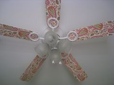 Great fan idea! I love it, I love ceiling fans but they're usually so ugly, this fixes it!