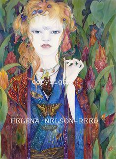 Custom Order Welcoming the Weary Traveler par HelenaNelsonReed Surreal Artwork, Various Artists, Medium Art, Mixed Media Art, Surrealism, Illustration Art, Princess Zelda, Watercolor, Fairies