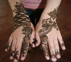Bridal Mehndi Designs 2014: Although henna hand designs are traditionally for brides hands, but now-a-days henna designs are also adorn on other parts of the body.Today every women like to draw Meh…