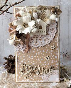 """Моя новогодняя открыточка с милым домиком и совёнком🏚✨спасибо за вдохновение @aleksakras с ее волшебной открыткой """"Время чудес"""" Поучаствую… Christmas Tag, Christmas Greeting Cards, Christmas Greetings, Handmade Christmas, Christmas Crafts, Card Tags, I Card, Diy And Crafts, Paper Crafts"""