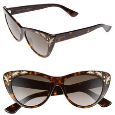 5fa4aeb3ce Women s Gucci 54Mm Cat Eye Sunglasses ( 425) ❤ liked on Polyvore featuring  accessories