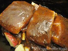 Frugal Foodie Mama: Slow Cooker Apple Butter Pork Chops
