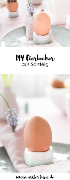 Eierbecher aus Salzteig & Tischdeko für Ostern DIY utensils: making egg cups from salt dough yourself and the perfect table … Diy Jewelry Inspiration, Diy Projects For Kids, Diy Blog, Egg Cups, Salt Dough, Easter Baskets, Cool Things To Make, Diy And Crafts, Easy Diy