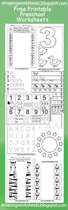 Free Printable Preschool Worksheets by ilsepatino Printable Preschool Worksheets, Free Preschool, Preschool Lessons, Preschool Kindergarten, Preschool Learning, Toddler Preschool, Preschool Activities, Teaching, Learning Tools