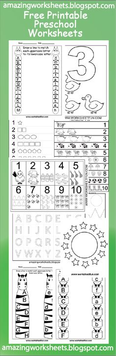 FREE PRINTABLE PRESCHOOL WORKSHEETS | Preschool Worksheets ...