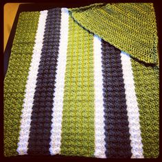 Hooded Baby Blanket  Solid or Stripped by SunriseCrochet0923, $40.00