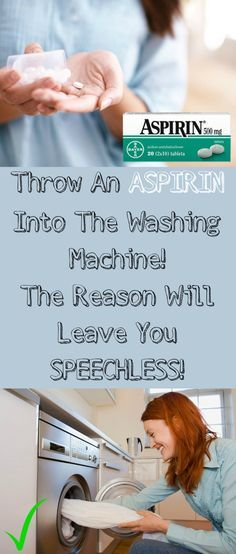 Throw An #Aspirin Into The #Washing #Machine! The #Reason Will Leave You #Speechless!
