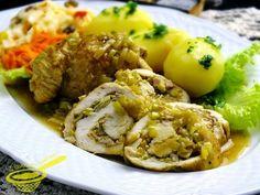 z cukrem pudrem: roladki z kurczaka w aksamitnym sosie porowym