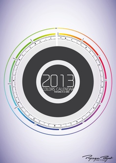 2013 Calendar, everyday is a color by Jeff , via Behance