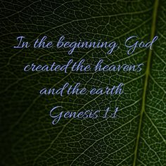 Genesis In the beginning, God created the heavens and the earth. In The Beginning God, Genesis 1, Heaven, Bible, Neon Signs, Earth, Biblia, Sky, Heavens