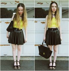 Black & yellow + $100 giveaway. (by Stacey Belko) http://lookbook.nu/look/3785073-black-yellow-1-giveaway