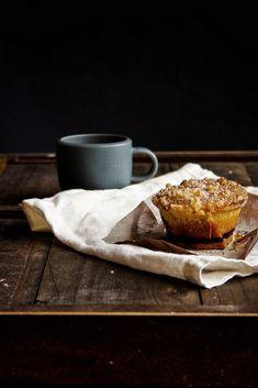 Tortas de café con almendra Streusel   toque de vainilla