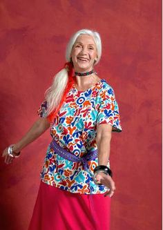 Gudrun Sjödén Home - Scandinavian Fashion - Gudrun Sjödén UK Beautiful Outfits, Beautiful Clothes, Scandinavian Fashion, Older Models, Kinds Of Clothes, Chanel Paris, Older Women, Floral Tops, Vintage Fashion