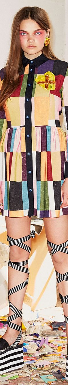 Hause of Holland Resort 2018 House Of Holland, Colorful Fashion, Color Splash, Rainbow, Shirt Dress, Colors, Spring, Shirts, Dresses