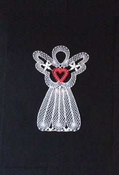 Bobbin Lace Patterns, Lace Heart, Lace Jewelry, Christmas Angels, Lace Detail, Butterfly, My Favorite Things, Crochet, Crafts