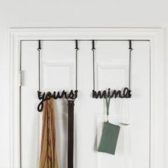 Yours & Mine Over-the-Door Hook - $20