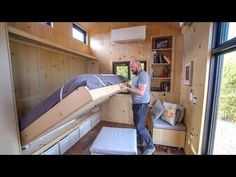 SaltBox Tiny House by Extraordinary Structures | Kris liked this one, especially the Murphy bed
