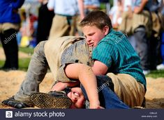 Traditional Swiss wrestling Stock Photo, Royalty Free Image: 40098970 - Alamy