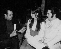 """Elvis - On the set of """"Trouble with Girls"""" (Oct 1968) With Joe Esposito"""