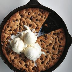 A twist on a classic, this skillet chocolate chip cookie is great for dinner parties. Get the recipe over at Chatelaine.com