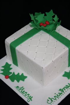 Image detail for -Paisley & Cream: Christmas Present Cake Workshop