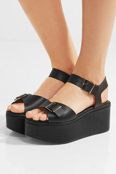 a21fe962346 Clergerie - Feitv leather platform sandals