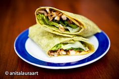 I tried a few variations of chicken wraps, using chicken that I cooked up in a frying pan with onions, garlic, ginger, salt & pepper. My Recipes, Favorite Recipes, Chicken Wraps, Chutney, Nom Nom, Mango, Stuffed Peppers, Cooking, Ethnic Recipes