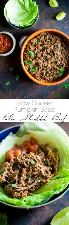 Paleo Shredded Slow Cooker Roast Beef with Pumpkin and Salsa + A Slow Cooker Recipe Roundup and GIVEAWAY!