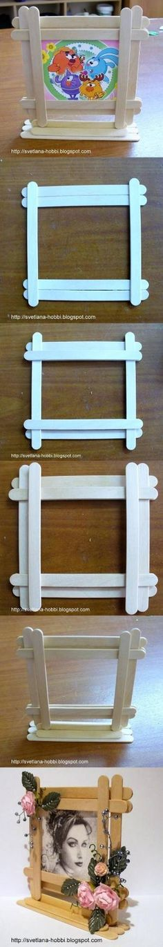 DIY Easy Popsicles Picture Frame by Bethzaida Ballester