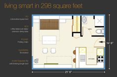sample floor plan  Wow can I use some of the stuff from this for a kitchen/bedroom