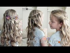 Girl's Hairstyles: Princess Aurora's Hairstyle from Disney's Maleficent