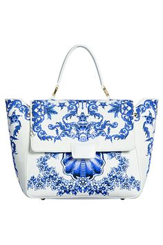 Roberto Cavalli - Just Cavalli Accessories - 2013 Spring-Summer. Perfect blue and white TG