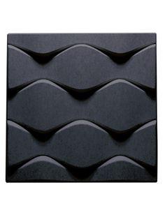 Painel Acústico Soundwave Flo, Cinza Escuro