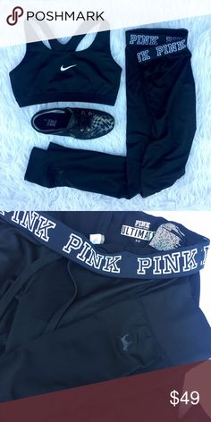 • PINK • Ultimate Gym Pant Black ultimate gym pant! No trades ❌❌ PINK Victoria's Secret Pants Track Pants & Joggers