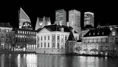 Mauritshuis And The Hague Skyline At Night Print by Barry O Carroll