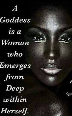Rebirth is under way...She emerges from deep within HERSELF.