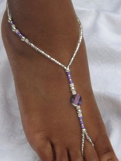Hey, I found this really awesome Etsy listing at https://www.etsy.com/listing/192665714/purple-barefoot-sandal-foot-jewelry