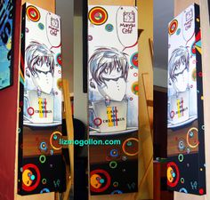 Acrylic on canvas by: Liz Mogollon coffee Anime Chibi, Manga Anime, Colombian Coffee, Arcade Games, Manga Art, Pop Art, Video Games, Animation, Canvas