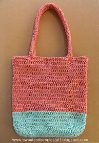 eco textile studio: Patroon Tasje SPRING van Hoooked eco Barbante Milano