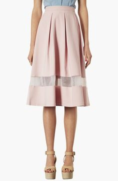 Topshop Organza Stripe Skirt available at #Nordstrom