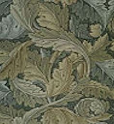 Victoria Era Wallpaper: Acanthus wallpaper, 1875: There was a favored tripartite wall that included a dado or wainscoting at the bottom, a field in the middle and a frieze or cornice at the top. This was popular into the 20th century. Frederick Walton who created linoleum in 1863 created the process for embossing semi-liquid linseed oil, backed with waterproofed paper or canvas. It was called Lincrusta and was applied much like wallpaper.