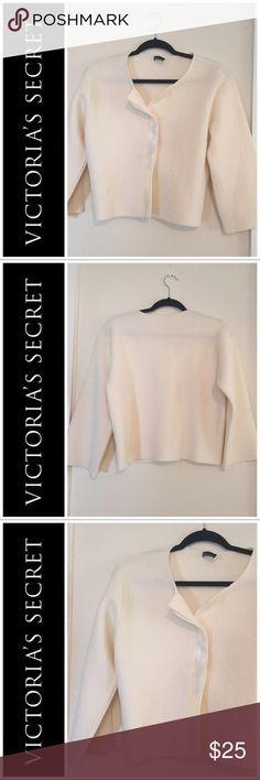 Victoria's Secret Cream Jacket M Victoria's Secret/Moda International Cream Jacket M Moda International Jackets & Coats
