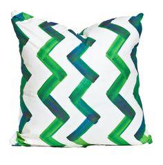 via BKLYN contessa :: society social :: painterly chevron pillow #emerald