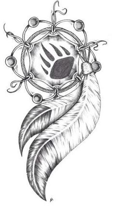 Bear paw dream catcher