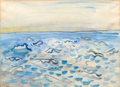 Artwork by Raoul Dufy, La mer. A bord de Queen Mary, Made of Gouache on paper Gouache, Raoul Dufy, Voyage New York, Queen Mary, Freundlich, View Image, Impressionist, Modern Art, Artwork