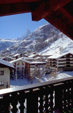 that's how you could be woken up in Zermatt / Switzerland