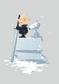 Jon Snow and Ghost Snoopy style