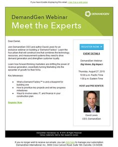 Daniel kuperman danielkuperman on pinterest demandgen webinar invitation email stopboris