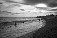 Day 391 of 'A Photograph Every day For The Rest Of My Life' Saturday 20th August 2016 'Hove Beach' Over the last few weeks I have been able to completely indulge my love of swimming in the sea. The waters have been calm and with the good weather the sea is pretty warm at the moment. I have been making the effort to take a dip each day and am 'loving it'. Today's photograph was taken just before sunset on Hove beach. A range of Gill's images are available to purchase at www.gillcopeland.com